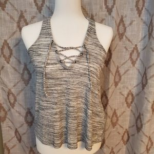 Hollister lace up tank
